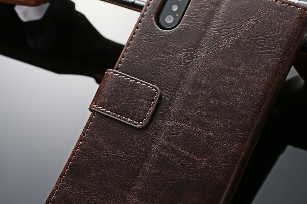 Luxury Leather Case for iPhone with Card Slots