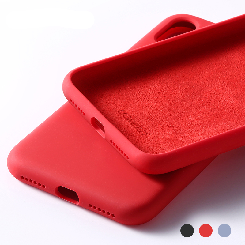 Solid Color Case for iPhone with Microfiber Lining