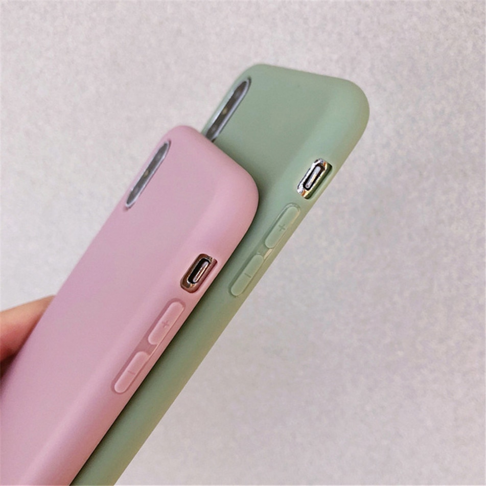 Soft Solid Color Phone Case for iPhone