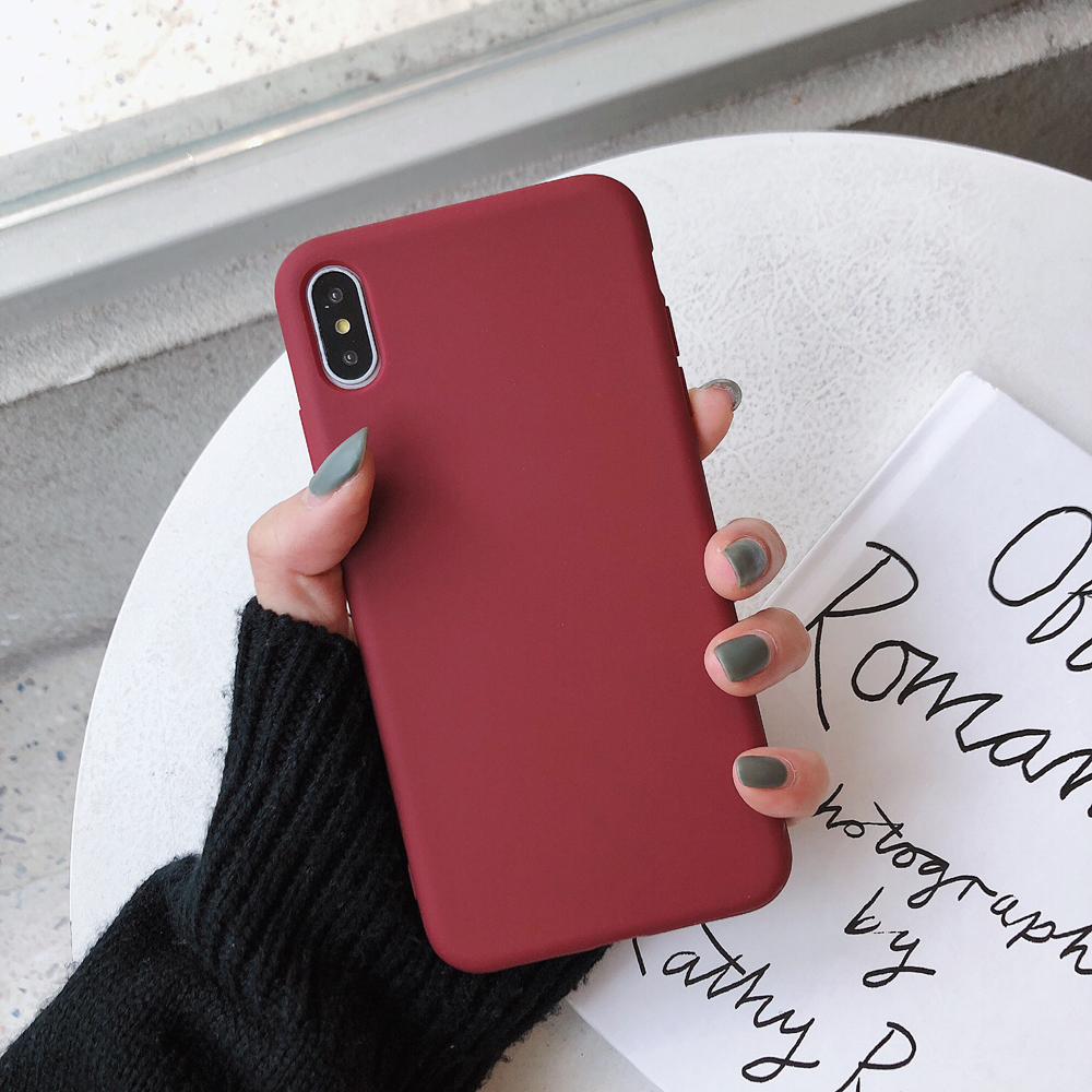 Solid Color Silicone Case for iPhone