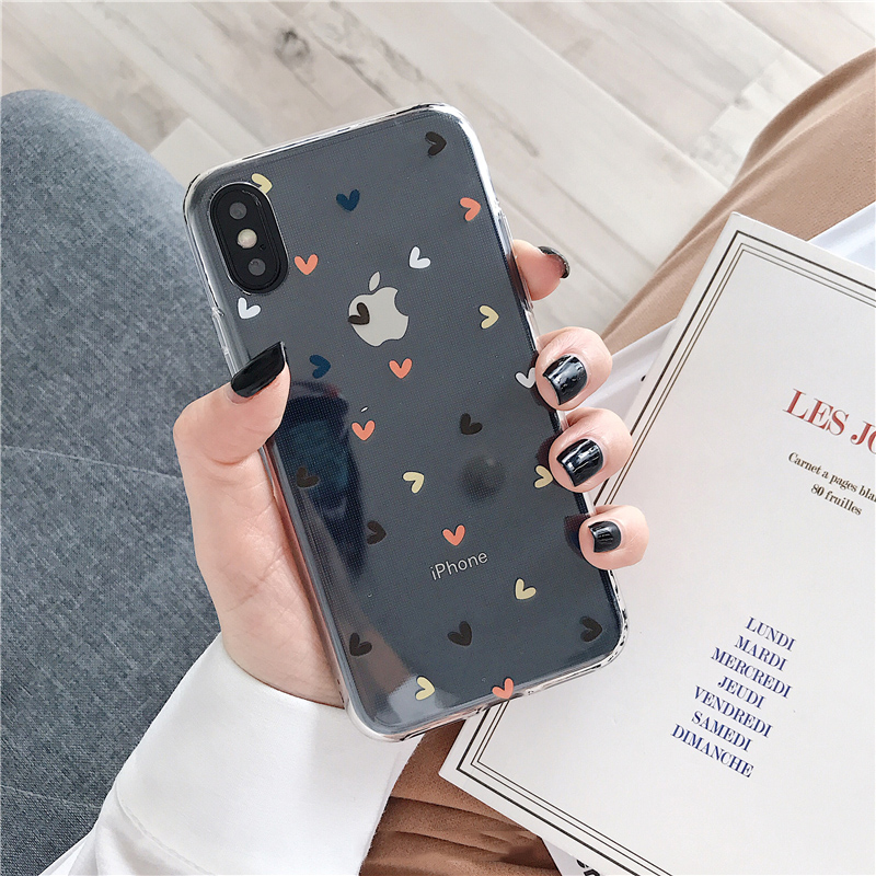 Floral Soft Clear Phone Case for iPhone
