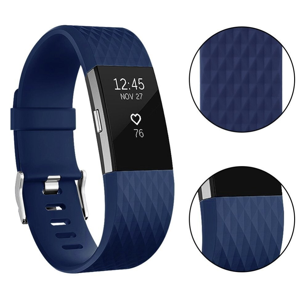 Quilted Texture Silicone Band for Fitbit Charge 2