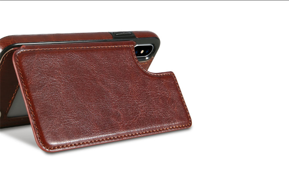 Colorful Leather Wallet Case for iPhone