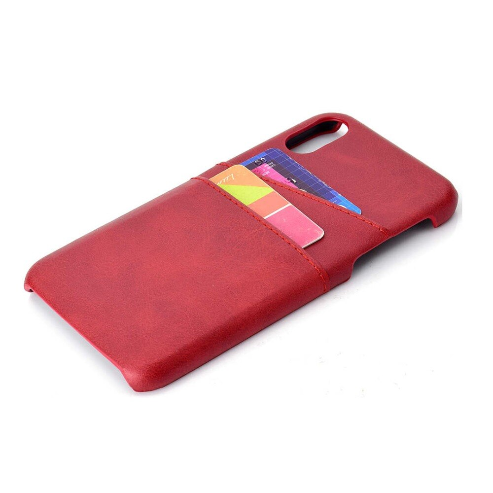 2 Card Slots PU Leather Case for iPhone